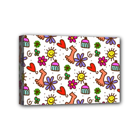Doodle Pattern Mini Canvas 6  x 4