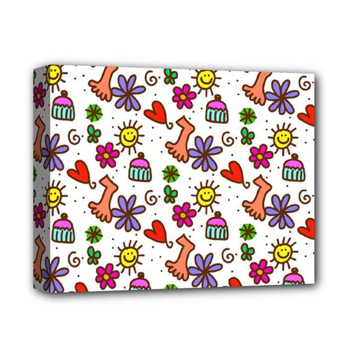 Doodle Pattern Deluxe Canvas 14  x 11