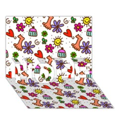 Doodle Pattern HOPE 3D Greeting Card (7x5)
