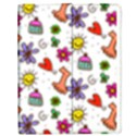 Doodle Pattern Apple iPad 3/4 Flip Case View1