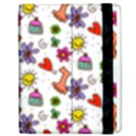 Doodle Pattern Apple iPad 3/4 Flip Case View2