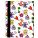 Doodle Pattern Apple iPad 3/4 Flip Case View3