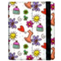 Doodle Pattern Samsung Galaxy Tab 7  P1000 Flip Case View2