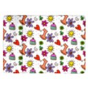 Doodle Pattern Samsung Galaxy Tab 10.1  P7500 Flip Case View1