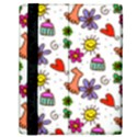 Doodle Pattern Samsung Galaxy Tab 10.1  P7500 Flip Case View2