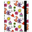Doodle Pattern Samsung Galaxy Tab 10.1  P7500 Flip Case View3