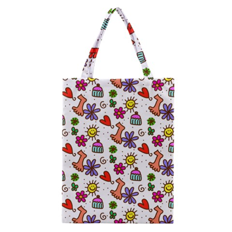 Doodle Pattern Classic Tote Bag