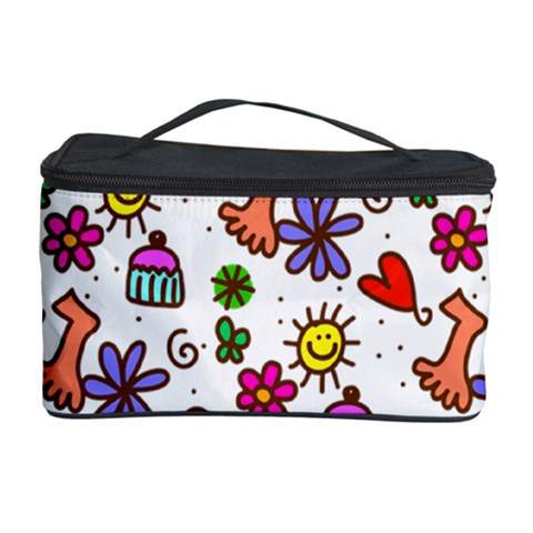Doodle Pattern Cosmetic Storage Case