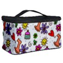 Doodle Pattern Cosmetic Storage Case View2