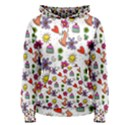 Doodle Pattern Women s Pullover Hoodie View1