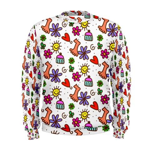 Doodle Pattern Men s Sweatshirt