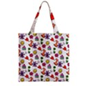 Doodle Pattern Zipper Grocery Tote Bag View2