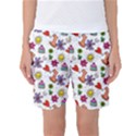 Doodle Pattern Women s Basketball Shorts View1