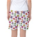 Doodle Pattern Women s Basketball Shorts View2