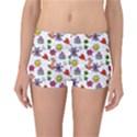 Doodle Pattern Reversible Boyleg Bikini Bottoms View1