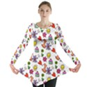Doodle Pattern Long Sleeve Tunic  View1