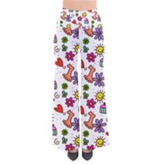 Doodle Pattern Pants