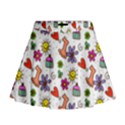 Doodle Pattern Mini Flare Skirt View1