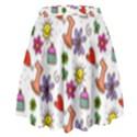 Doodle Pattern High Waist Skirt View2