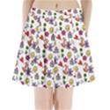 Doodle Pattern Pleated Mini Skirt View1