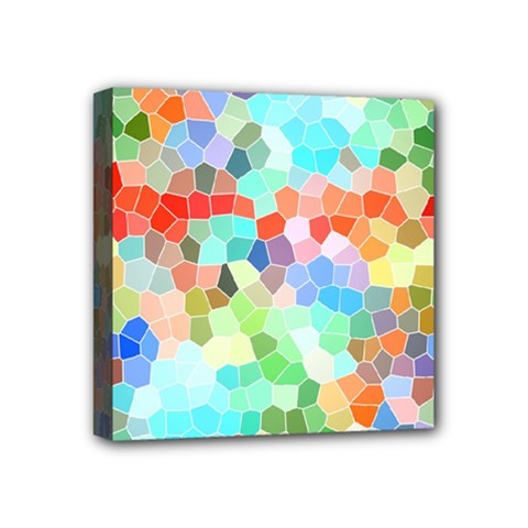 Colorful Mosaic  Mini Canvas 4  X 4