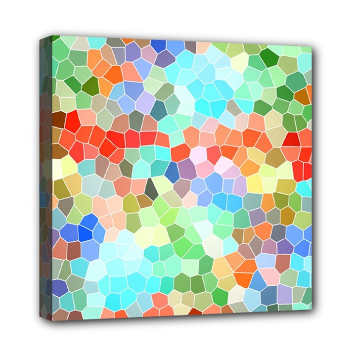 Colorful Mosaic  Mini Canvas 8  x 8