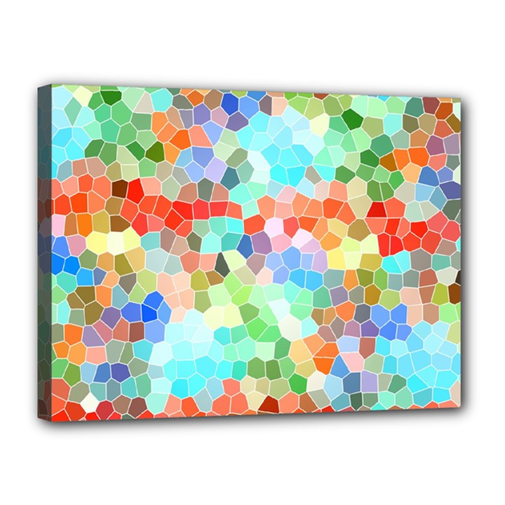 Colorful Mosaic  Canvas 16  x 12