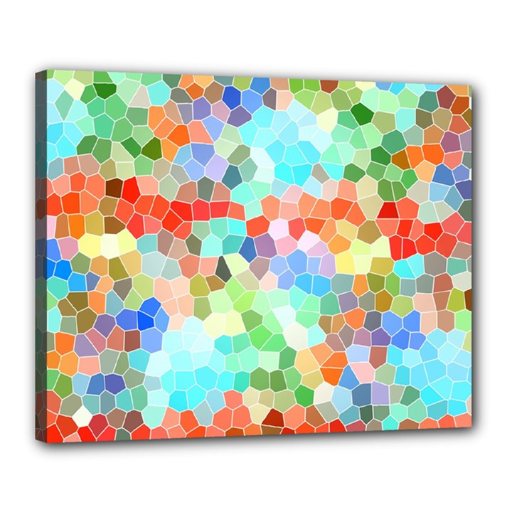 Colorful Mosaic  Canvas 20  x 16
