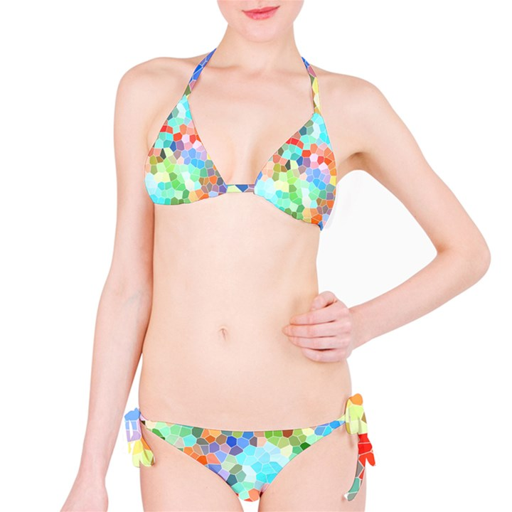 Colorful Mosaic  Bikini Set
