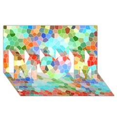 Colorful Mosaic  Mom 3d Greeting Card (8x4)