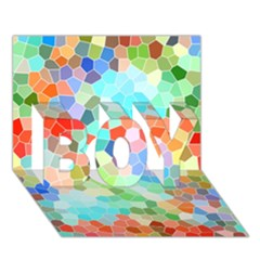 Colorful Mosaic  Boy 3d Greeting Card (7x5)
