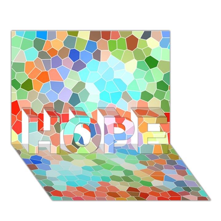 Colorful Mosaic  HOPE 3D Greeting Card (7x5)