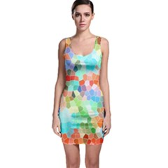 Colorful Mosaic  Sleeveless Bodycon Dress