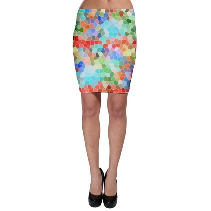 Colorful Mosaic  Bodycon Skirt