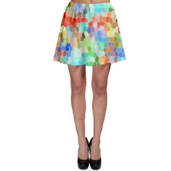 Colorful Mosaic  Skater Skirt