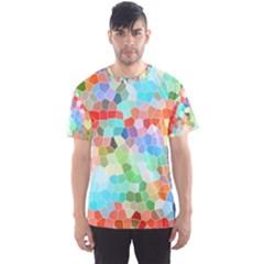Colorful Mosaic  Men s Sport Mesh Tee