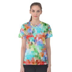 Colorful Mosaic  Women s Cotton Tee