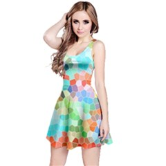 Colorful Mosaic  Reversible Sleeveless Dress