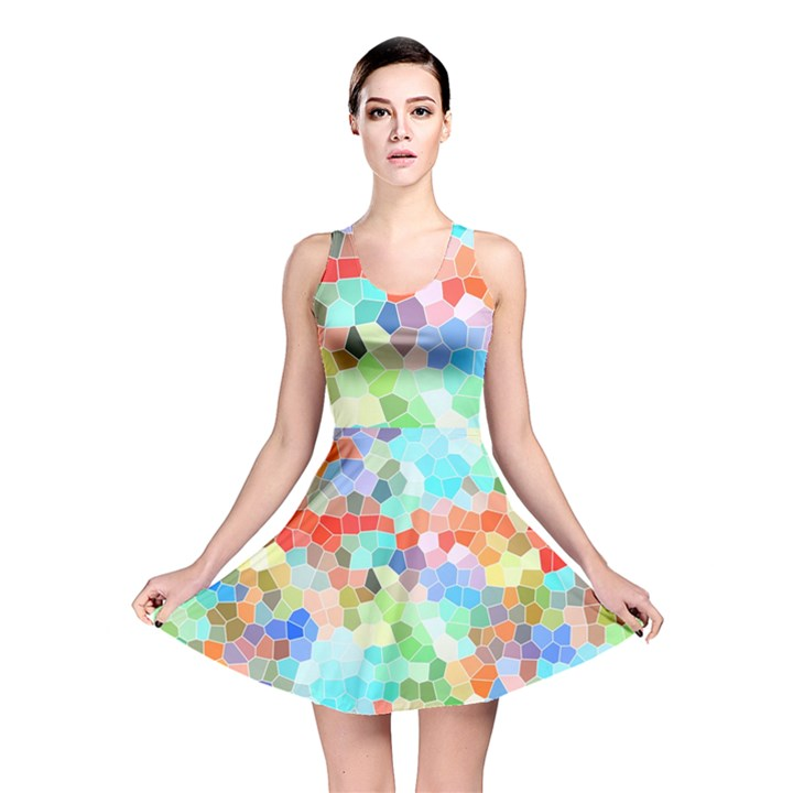 Colorful Mosaic  Reversible Skater Dress