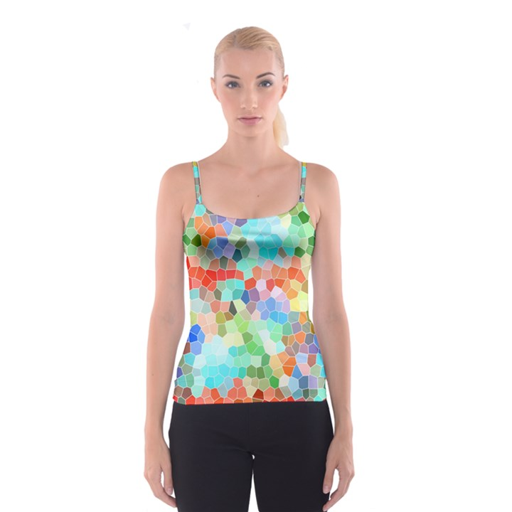 Colorful Mosaic  Spaghetti Strap Top
