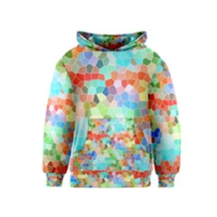 Colorful Mosaic  Kids  Pullover Hoodie