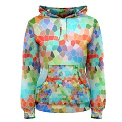 Colorful Mosaic  Women s Pullover Hoodie