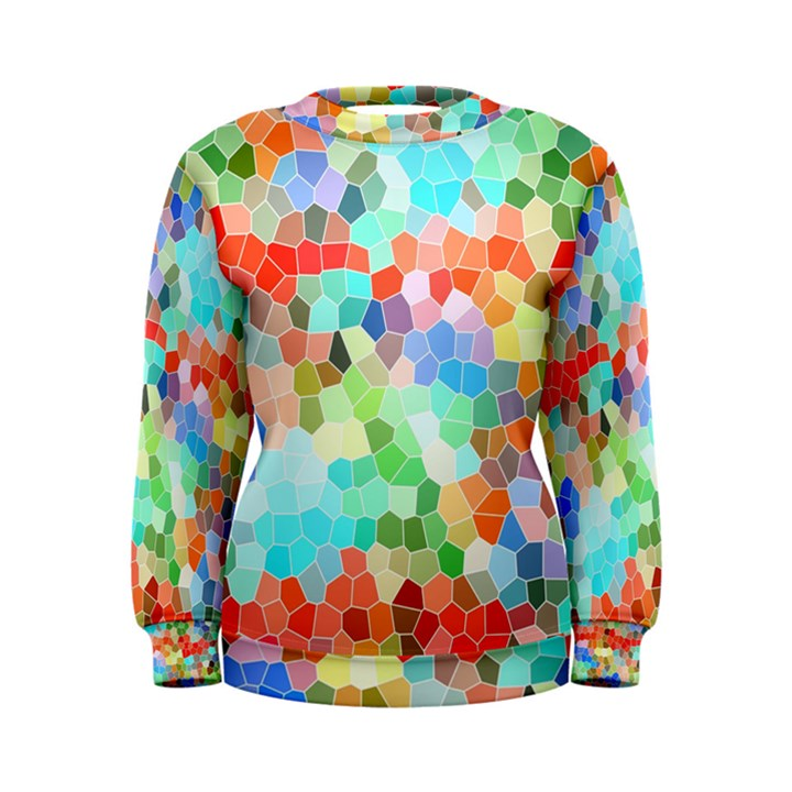 Colorful Mosaic  Women s Sweatshirt