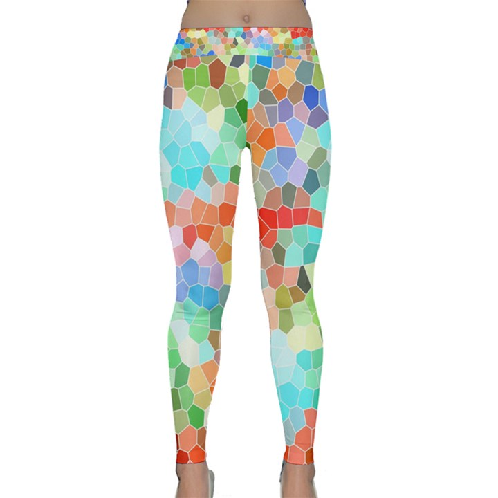 Colorful Mosaic  Yoga Leggings