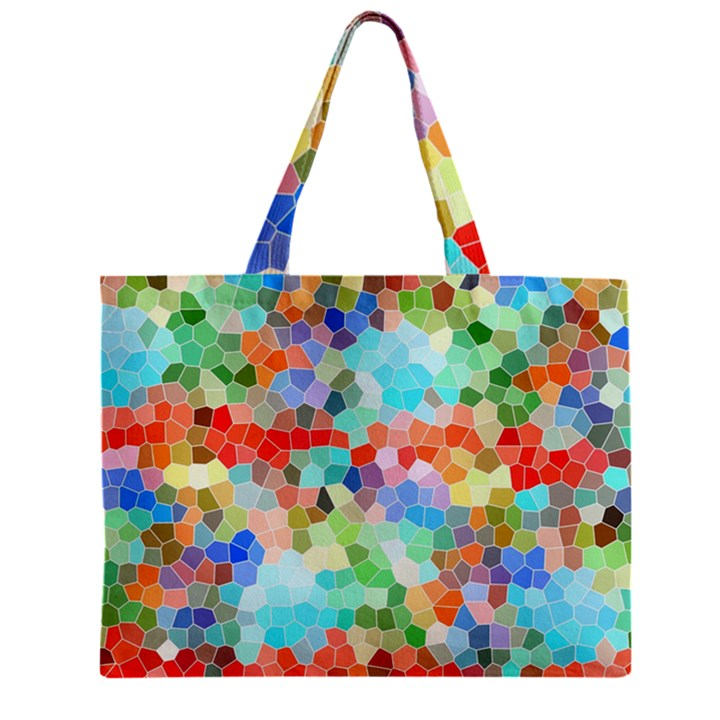 Colorful Mosaic  Zipper Mini Tote Bag
