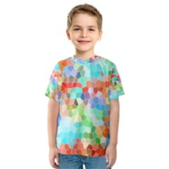 Colorful Mosaic  Kids  Sport Mesh Tee