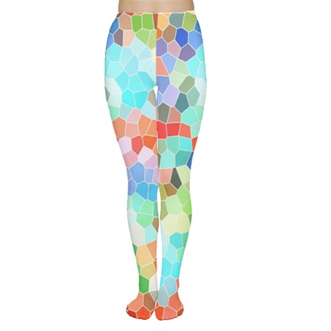 Colorful Mosaic  Women s Tights