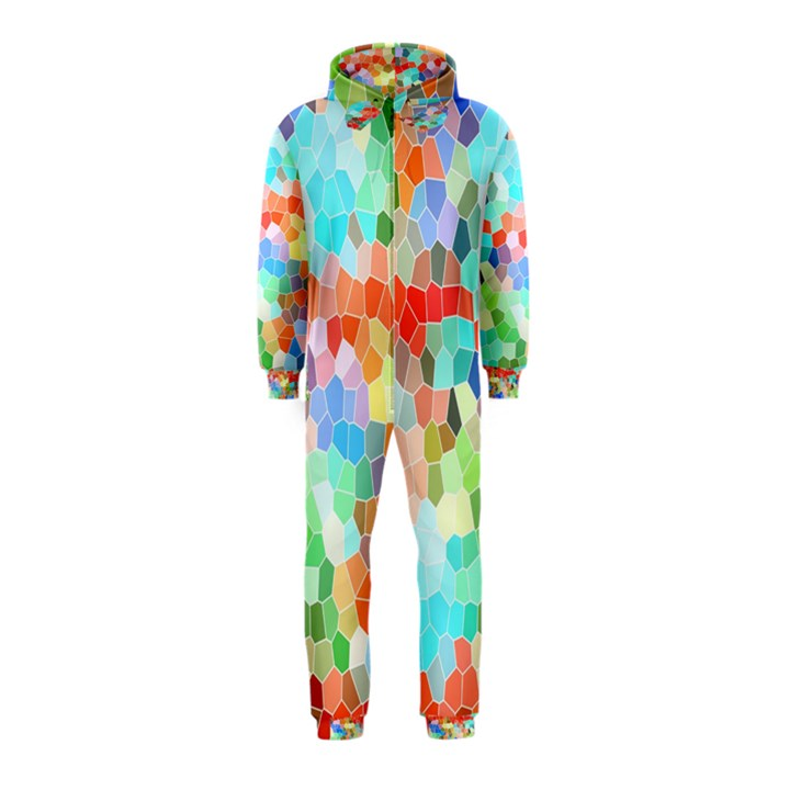 Colorful Mosaic  Hooded Jumpsuit (Kids)
