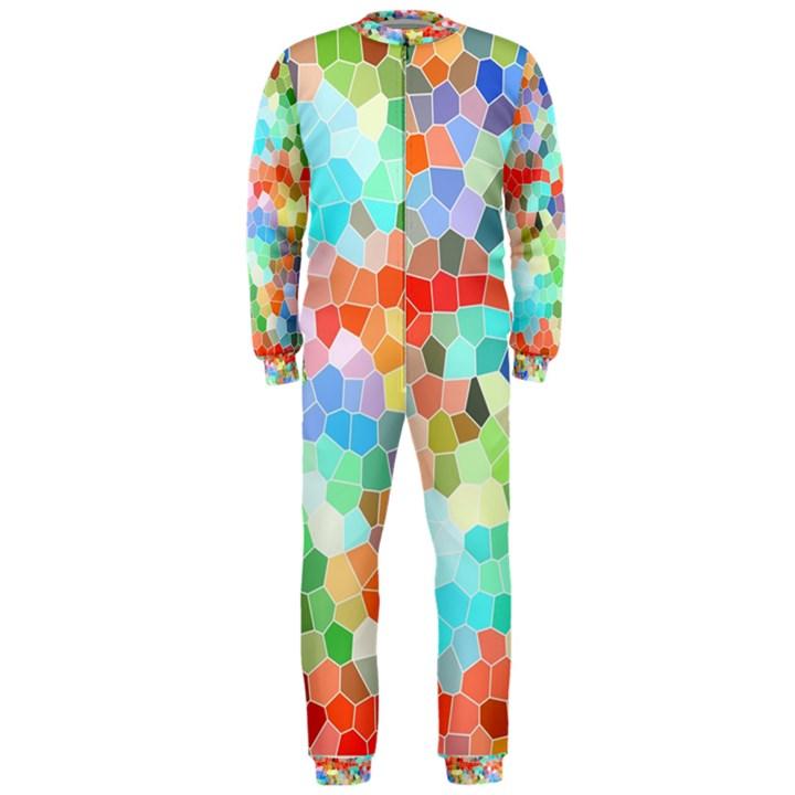 Colorful Mosaic  OnePiece Jumpsuit (Men)