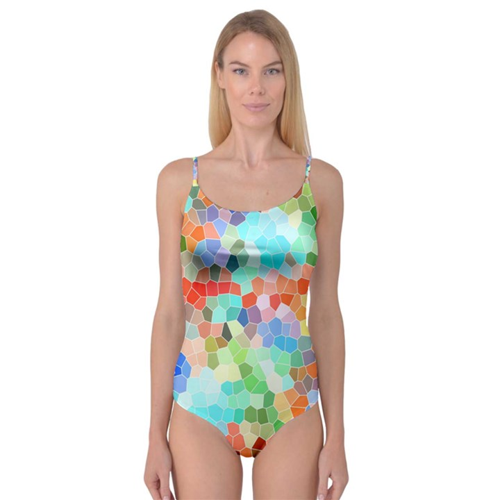 Colorful Mosaic  Camisole Leotard